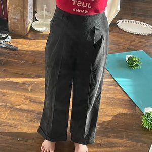 Stop Staring High Rise Linen Trouser Pant Black
